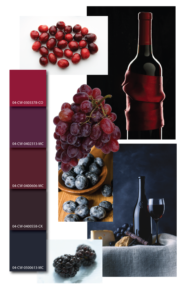 Wine color inspiration, wine color mood board, wine color scheme: looking for the right color maroon to paint my wall