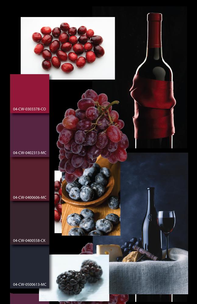 Wine Color Inspiration Mood Board Scheme