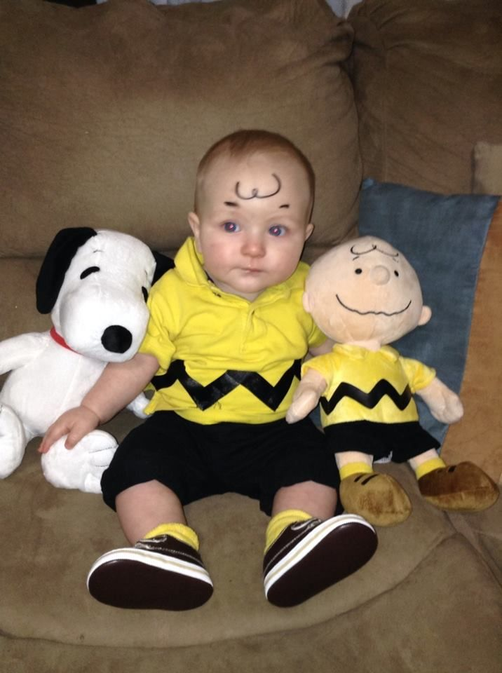 My 9 month old as Charlie Brown for Halloween DIY  sc 1 st  Pinterest : 9 month old halloween costume  - Germanpascual.Com