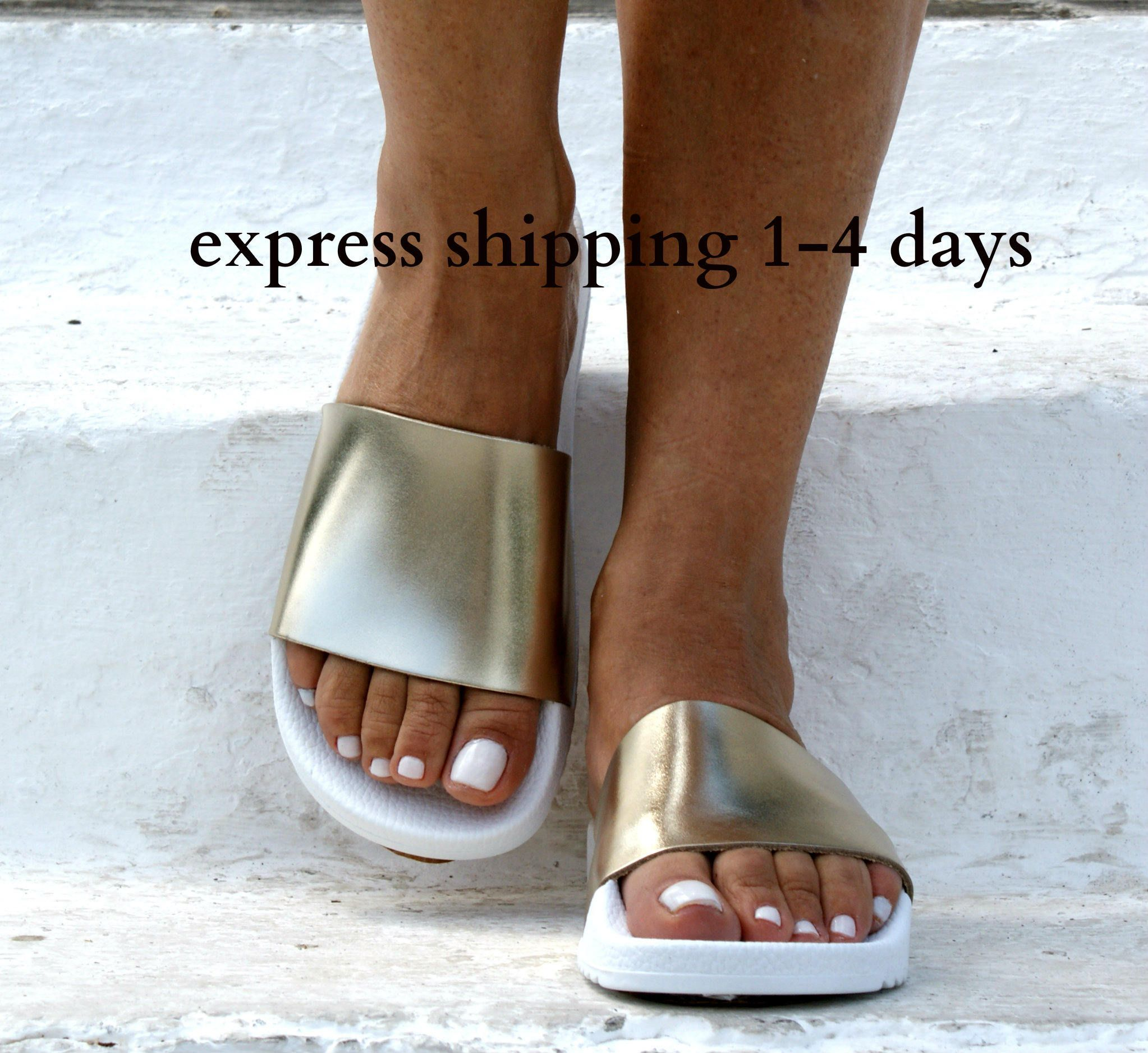 259563a3a8fb HESTIA 3 sandals  ancient Greek leather sandals  slide