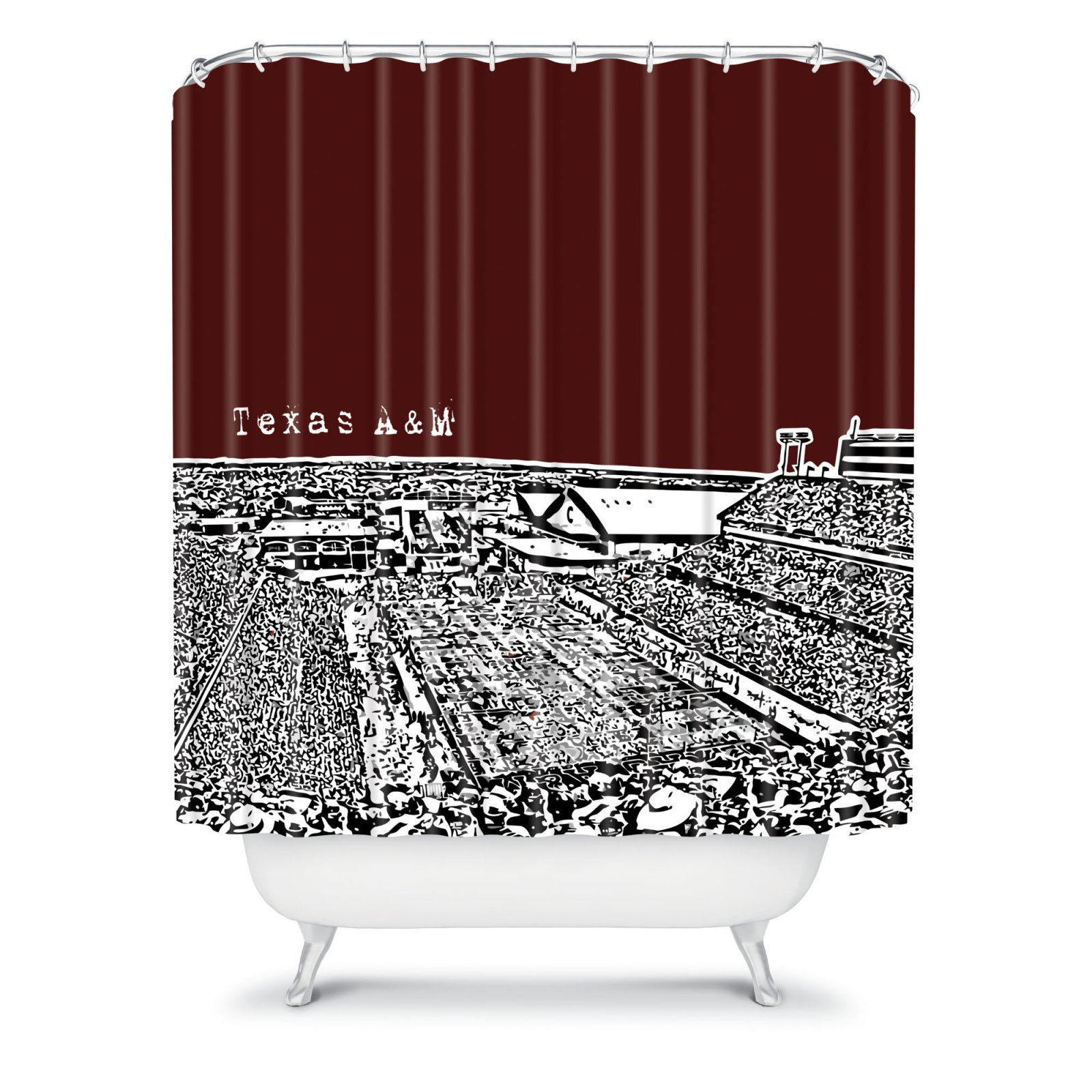 Deny Designs Bird Ave College Stadiums Shower Curtain Shower