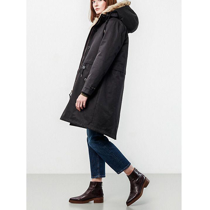 Buy Parka London Liv Faux Fur Parka, Black, XS Online at johnlewis.com