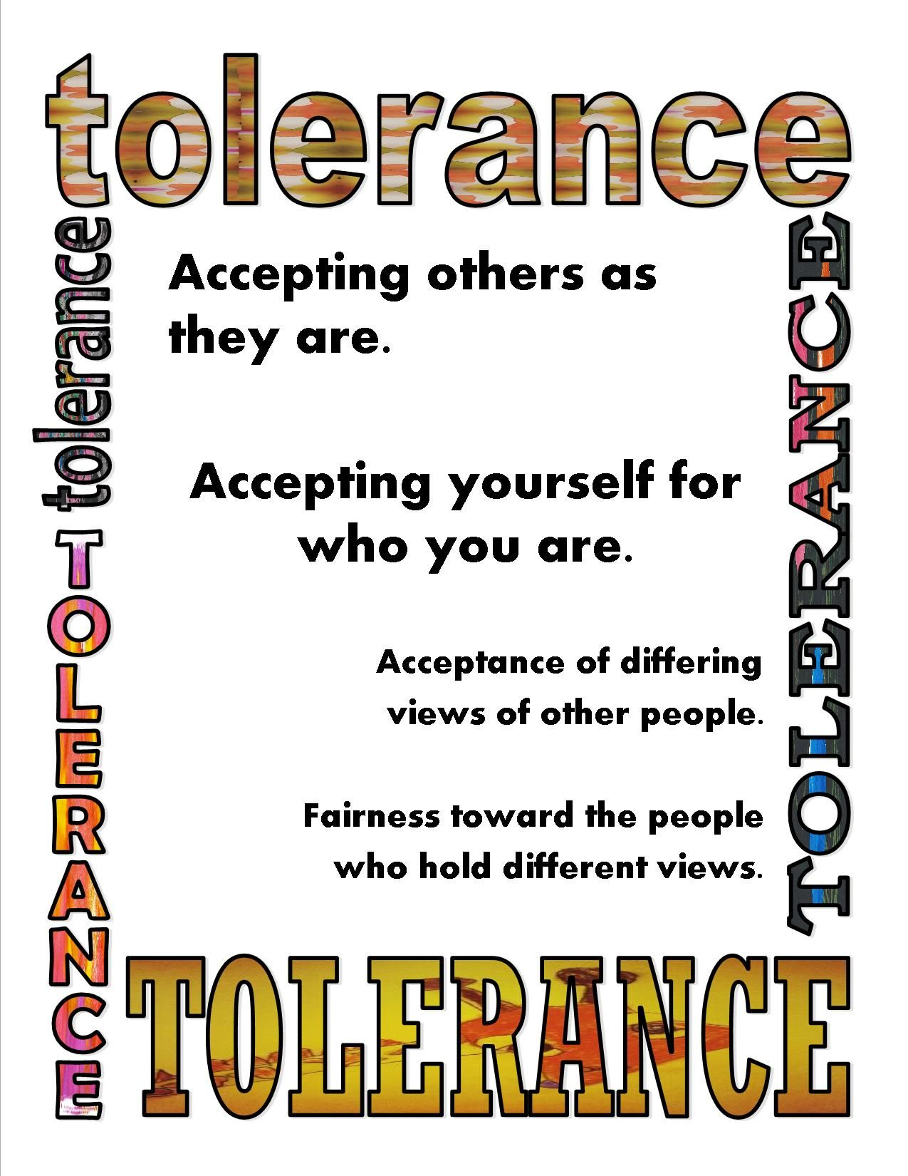 Don T Laugh At Me Tolerance Poster