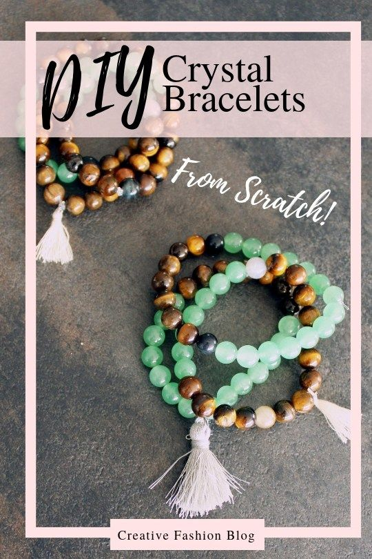 Photo of DIY Crystal Elastic Beaded Bracelets . Make Your Own Stone Bracelets – Creative Fashion Blog