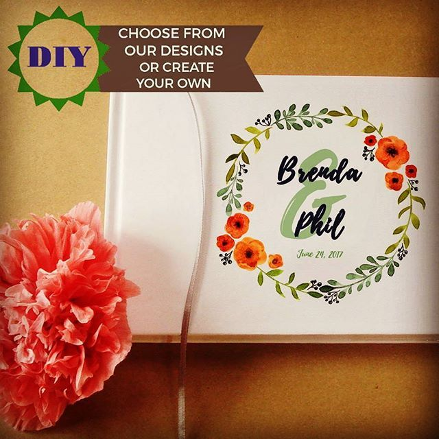DIY Wedding Guest Book · Custom Wedding Guest Book with your ...