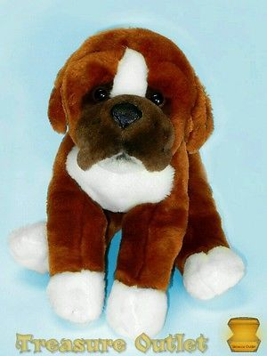 Toys R Us Stuffed Plush Boxer Puppy Dog