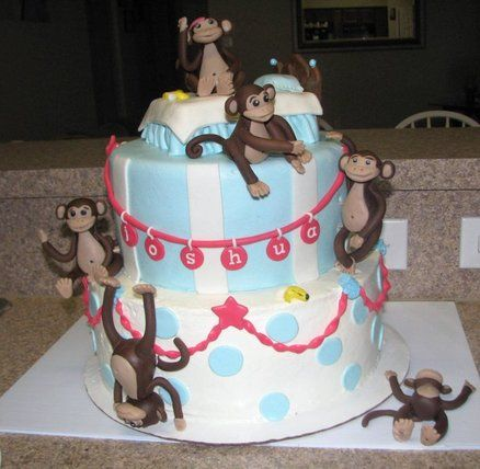 "Connor has specifically requested a ""Silly Monkeys Jumping On The Bed"" cake... hmm..."