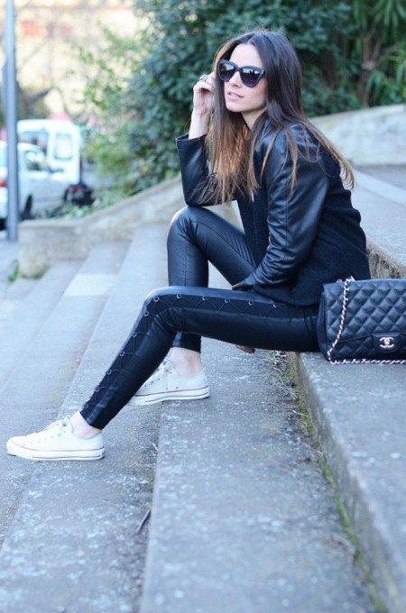 all black converse style