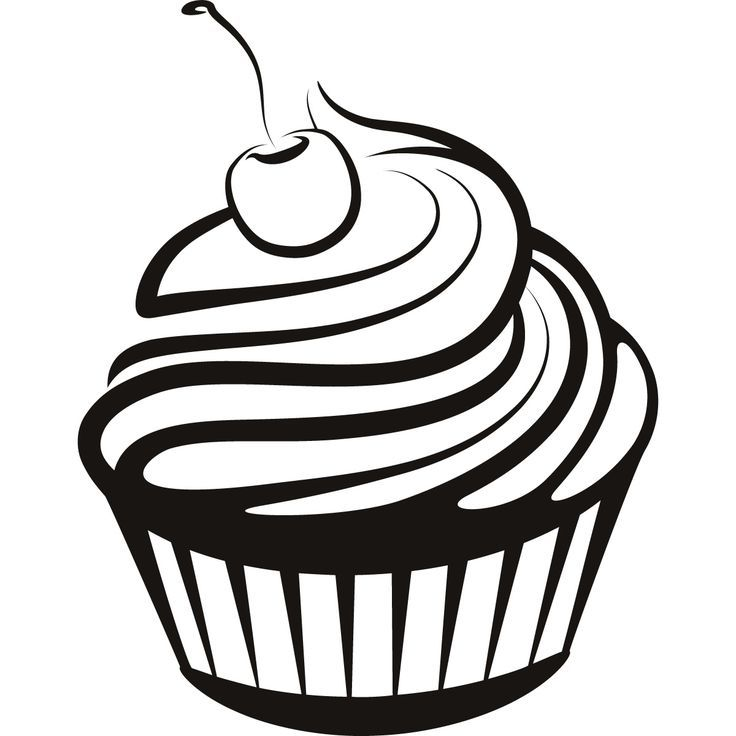 image result for black and white cakes designs logos drawings rh pinterest com cupcake vector illustrator cupcake vector image free