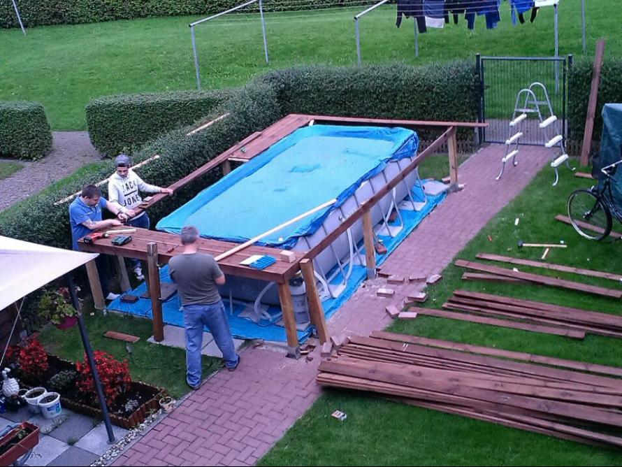 toom Kreativwerkstatt - Pool Umrandung #poolimgartenideen