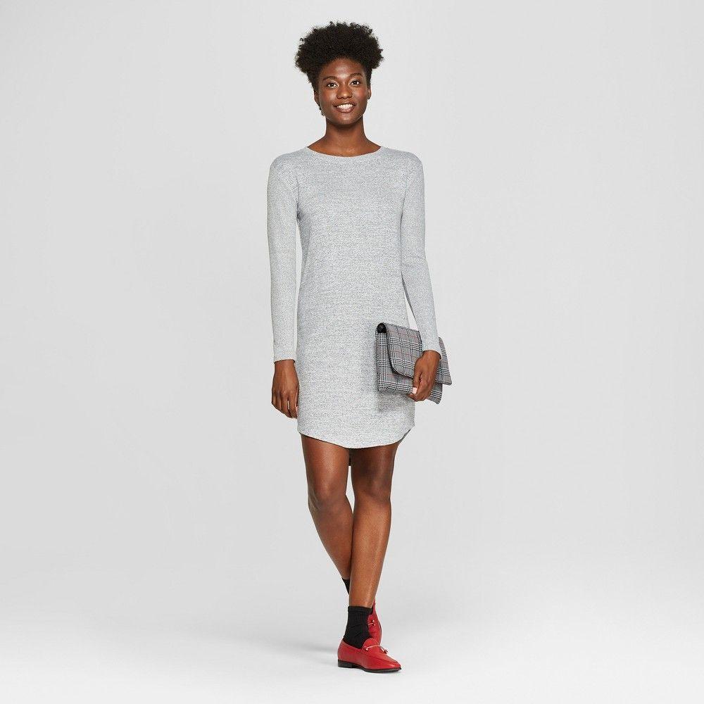 6143eb14e0c Women s Shine Tie Sleeve Sweater Dress - Spenser Jeremy - Black Silver S