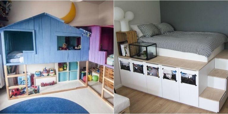 15 Beds Made Much Cooler with IKEA Hacks | How to make bed ...