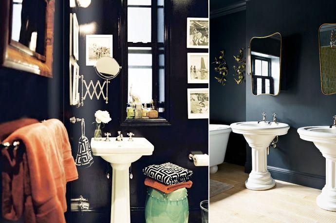 Notre salle de bain noire et blanche - Grenadine Acidulée - le ...