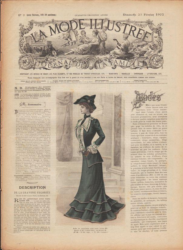 n° 20//1905 Voir modèles à réaliser LA MODE ILLUSTREE PATRON FRENCH PATTERN