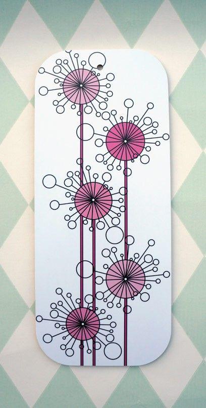 Pink Dandelions - Bolin Design #Nordicdesigncollective #bolindesign #cuttingboard #rosamaskrosor #pinkdandelions #thinkpink