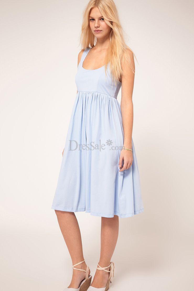 Light Sky Blue Graduation Dress In Concise Design Asos Summer Dresses Blue Graduation Dresses Midi Dress Summer [ 1110 x 740 Pixel ]