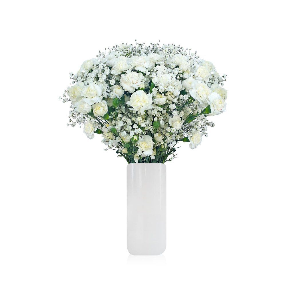 Mini Carnation Baby Breath Bouquet Pack 6 More Colors Available Ebloomsdirect Diy Wedding Flowers Mini Carnations Carnation Wedding