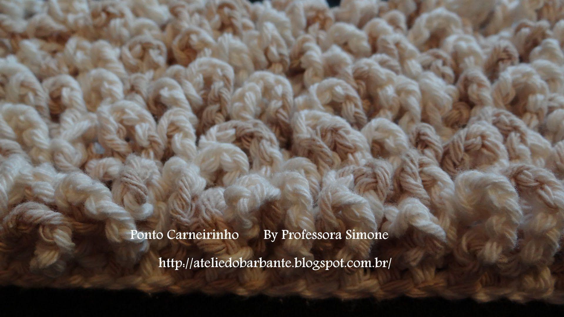 Passo a passo Ponto Carneirinho em Crochê (Ótima ideia de tapete ... 236797cb216