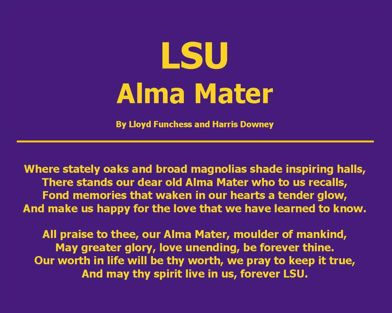 Lsu alma mater game day pinterest alma mater tigers for Alma mater t shirts