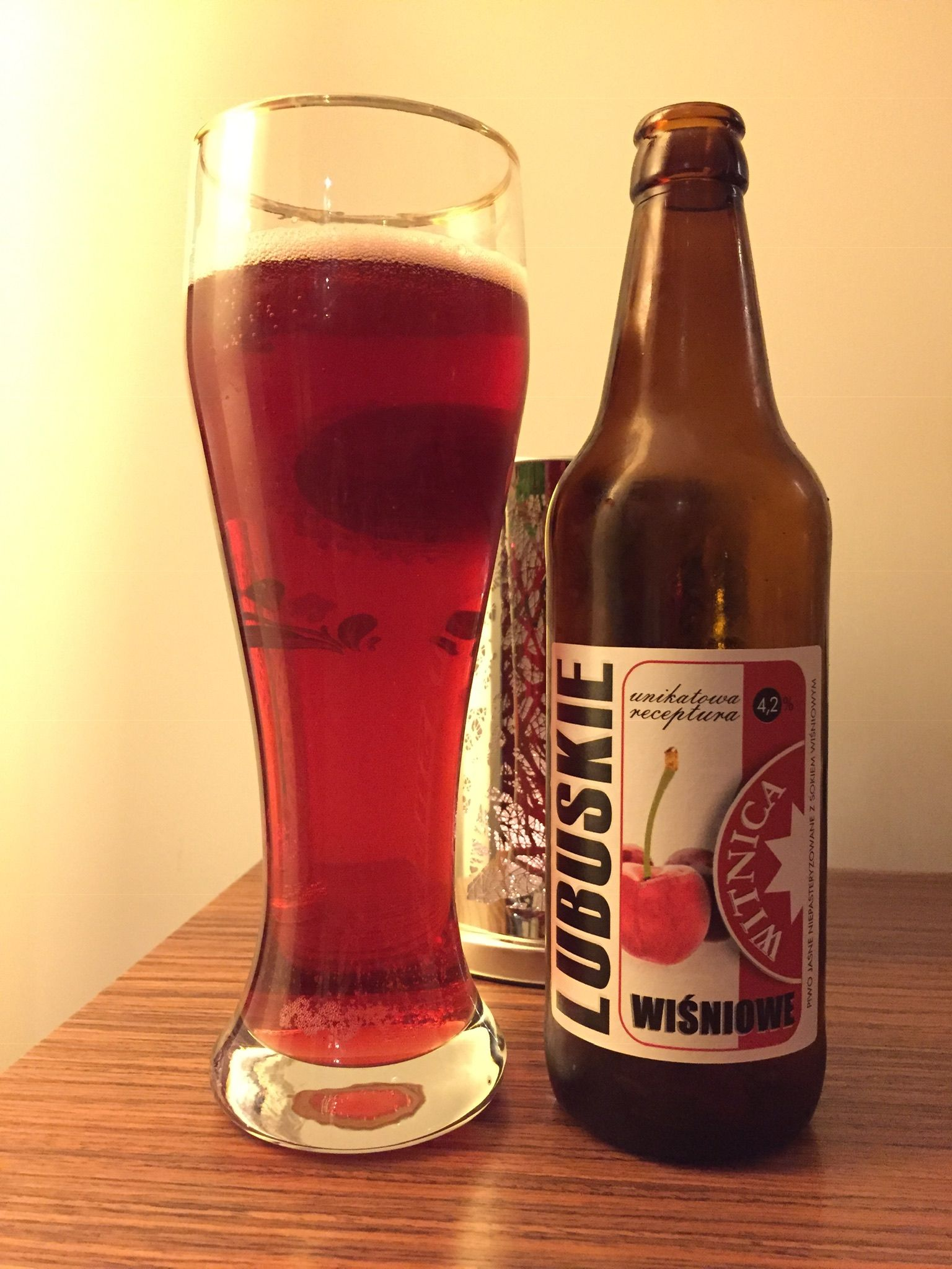 Lubuskie Wisniowe Browar Witnica 2018 12 09 Beer Beers Of The World Alcoholic Drinks