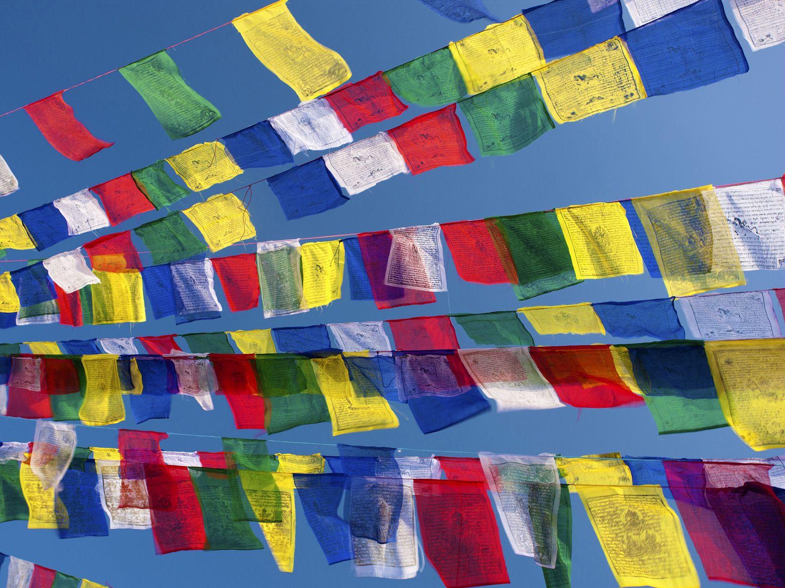 Sheer Wrap - Tibetan Prayer Flags by VIDA VIDA YUJHC