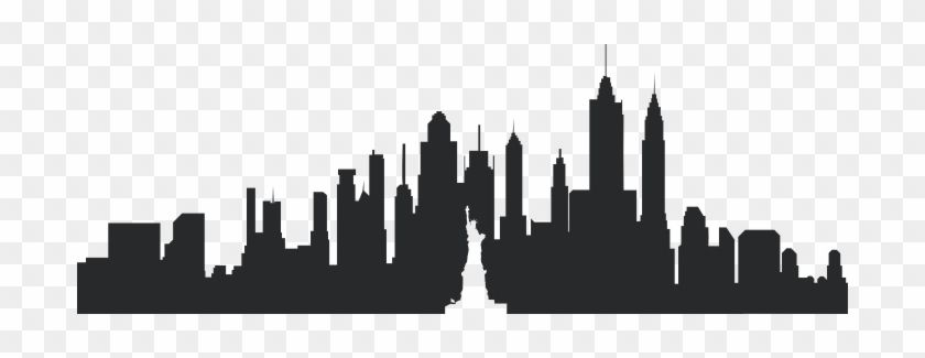 Download And Share Clipart About Cityscape Svg New York Skyline Outline Find More High Quality Free Tr New York Skyline Silhouette New York Skyline Clip Art