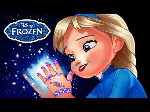 Disney Frozen Baby Princess Elsa Great Manicure Nails Art Game For