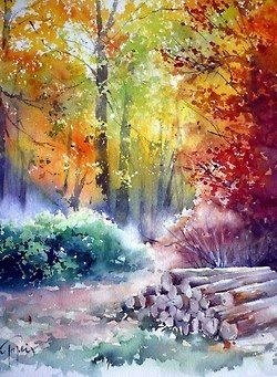 Jean Claude Papeix Tumblr Autumn Landscape Bunte Kunst