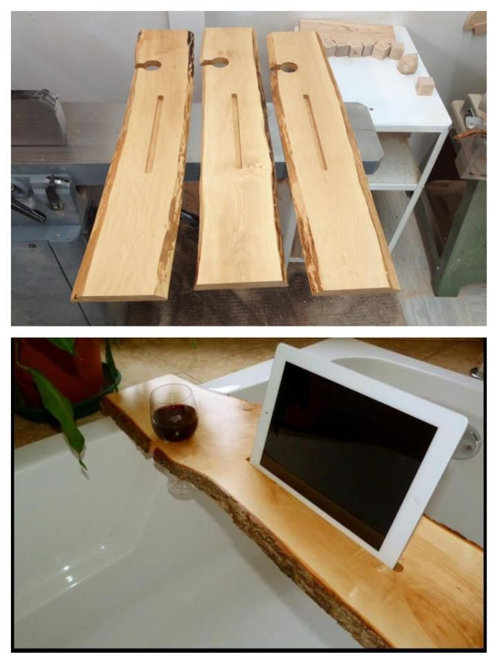 Bathtub wine & tablet/iPad holder   Woodworking Inspiration ...