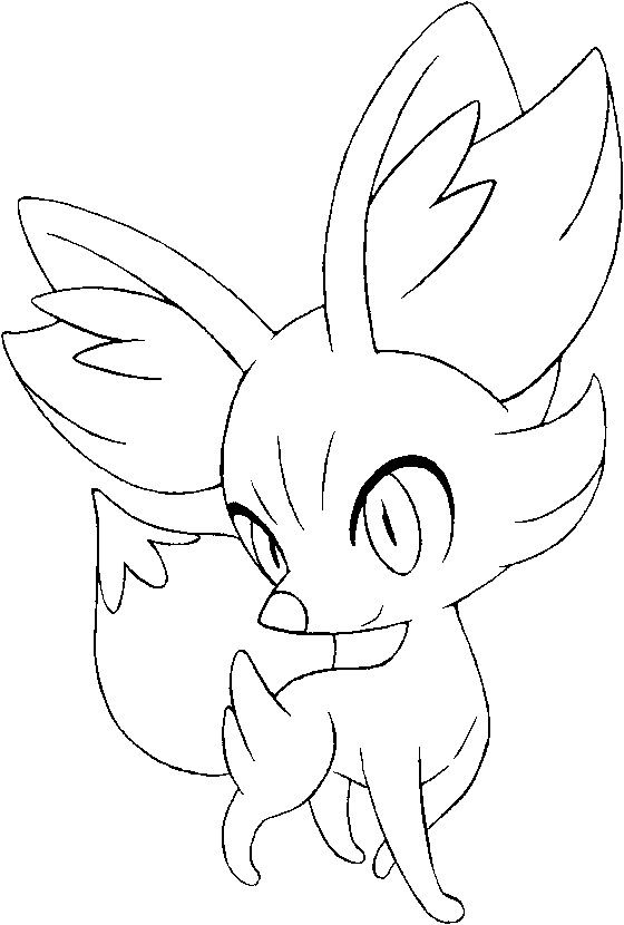 Fennekin Pokemon Coloring Pages Pokemon Coloring Mandala
