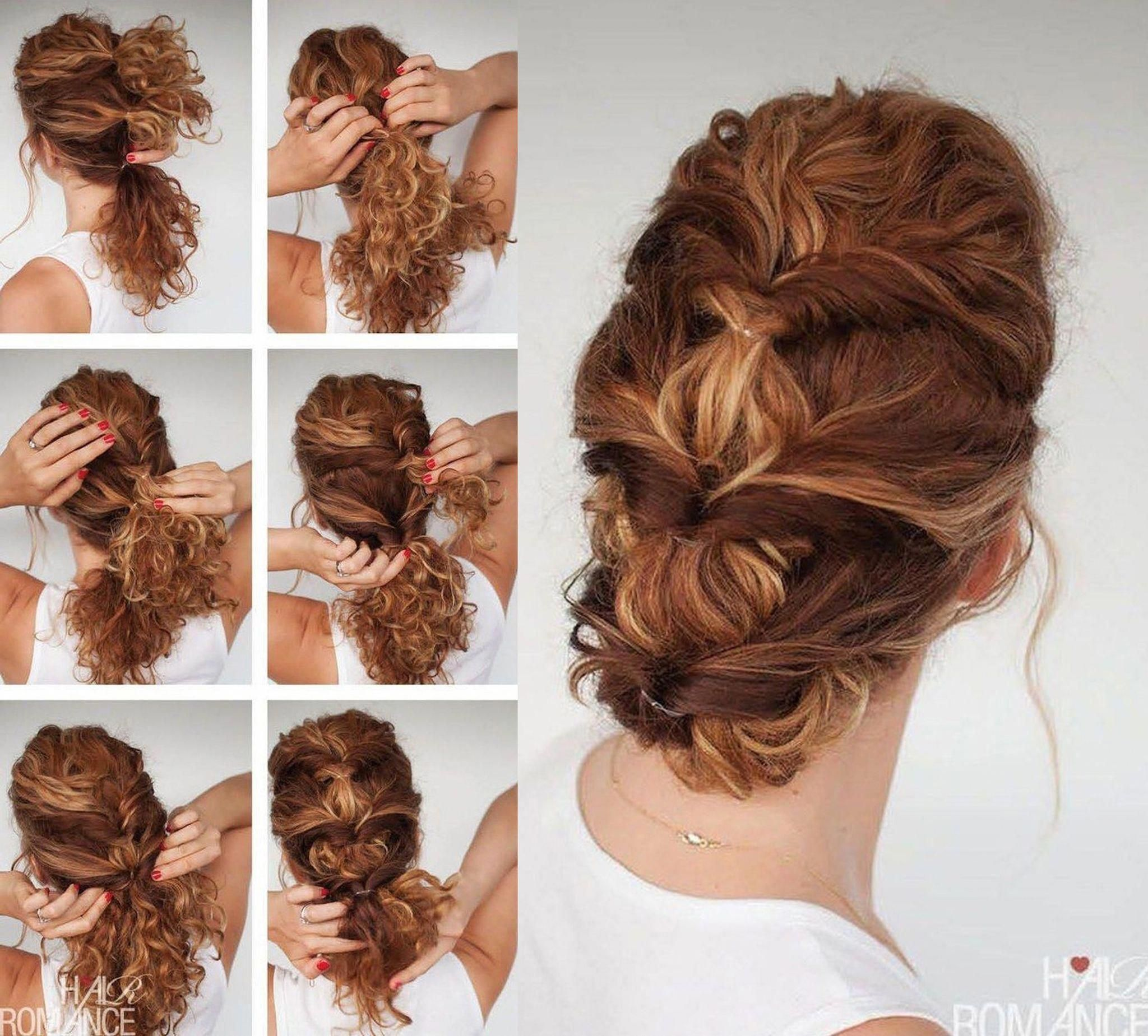 7 Easy Hairstyle Tutorials For Curly Hair Curlyhairideas Curlyhairstyles Hair Updos Tutorials Easy Hairstyles Curly Hair Styles