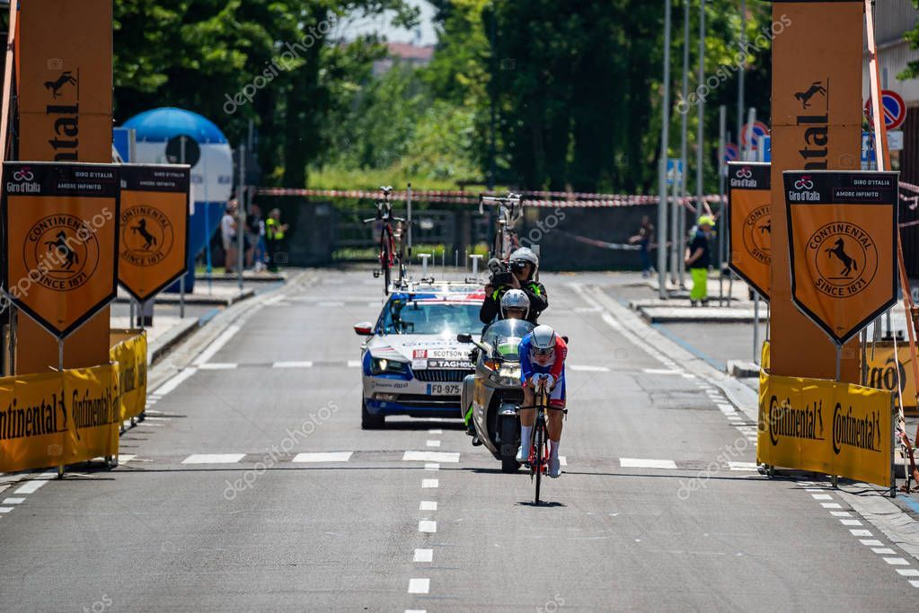 Verona Italy June 2019 Professional Cyclist Route Final ...