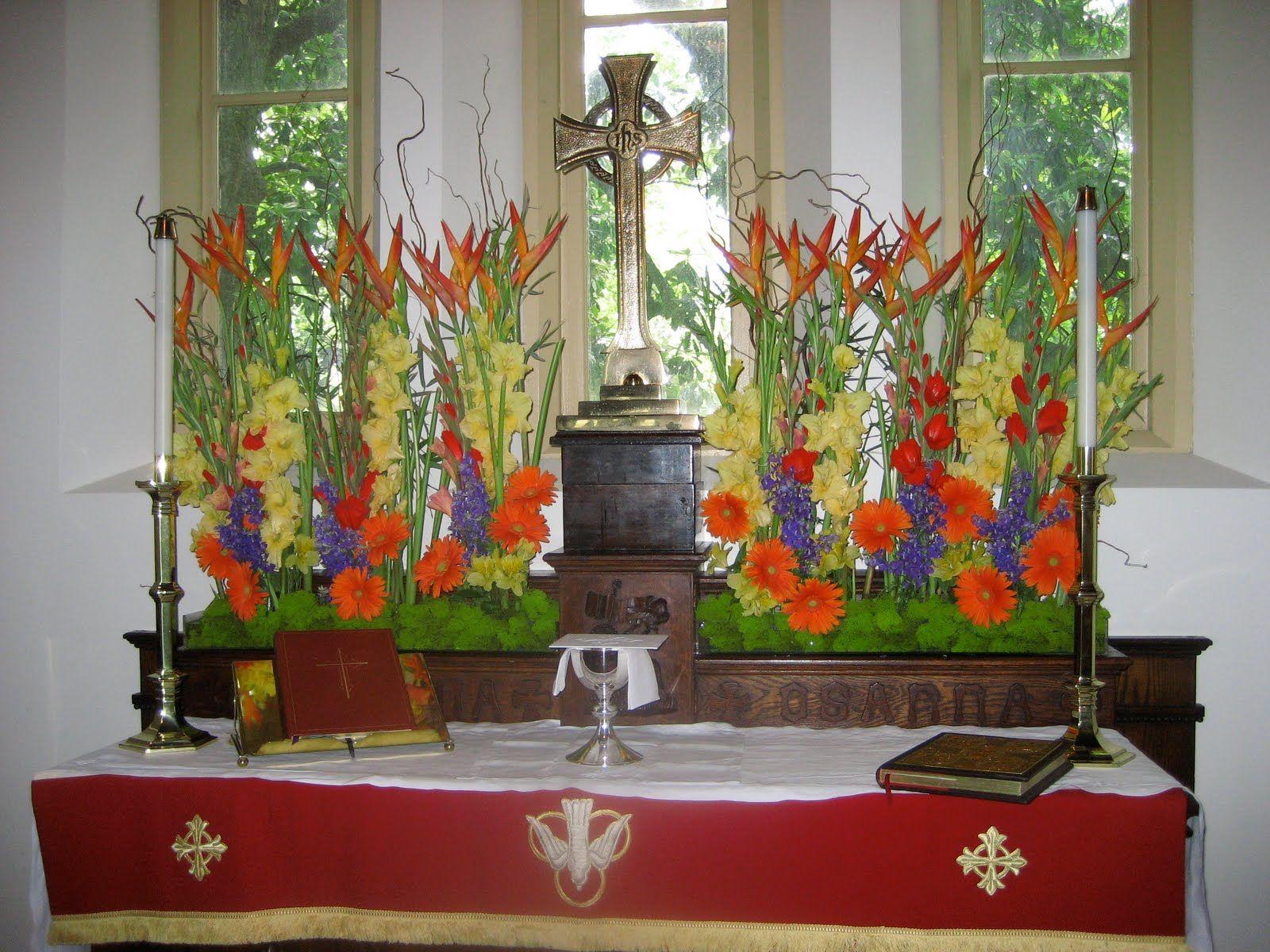 Pentecost flowers bing images chapel of the cross - Pedestal para plantas ...