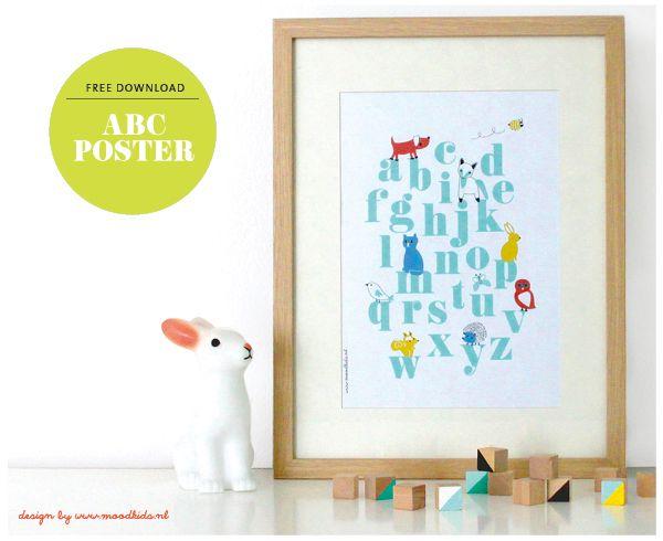 free printable nederlandse abc poster gratis download van www ...