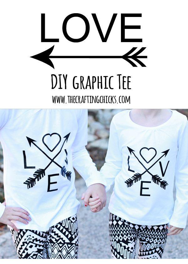 Diy Love Arrows Graphic Tee Cricut Explore Diy Clothes Cricut