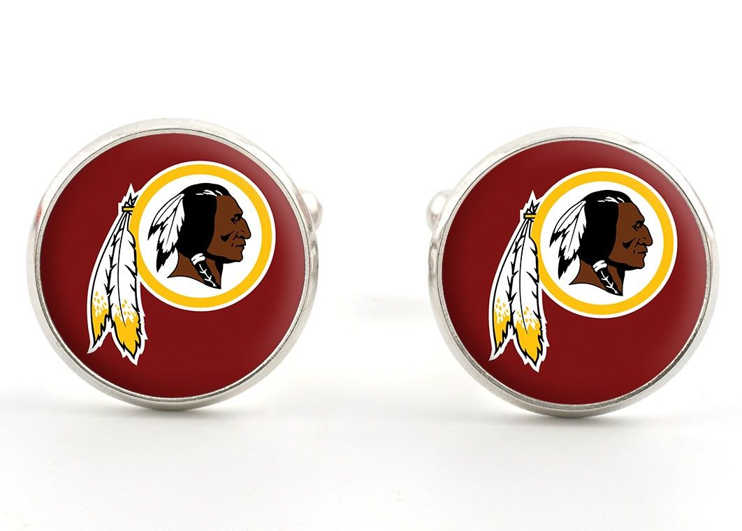 Washington Redskins Cufflinks Cuff Links Clips Lapel Pins