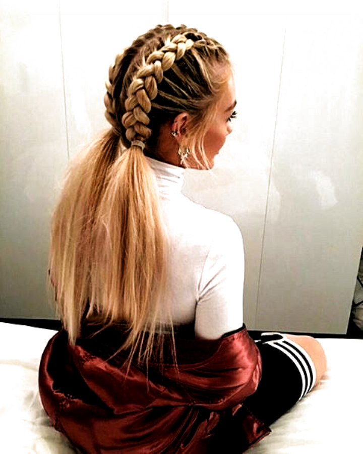 This Schoolgirl Favorite Is All Grown Up See The 12 New Braided Hairstyles We Cant Get Enough Of And In 2020 Medium Length Hair Styles Hair Styles Braided Hairstyles