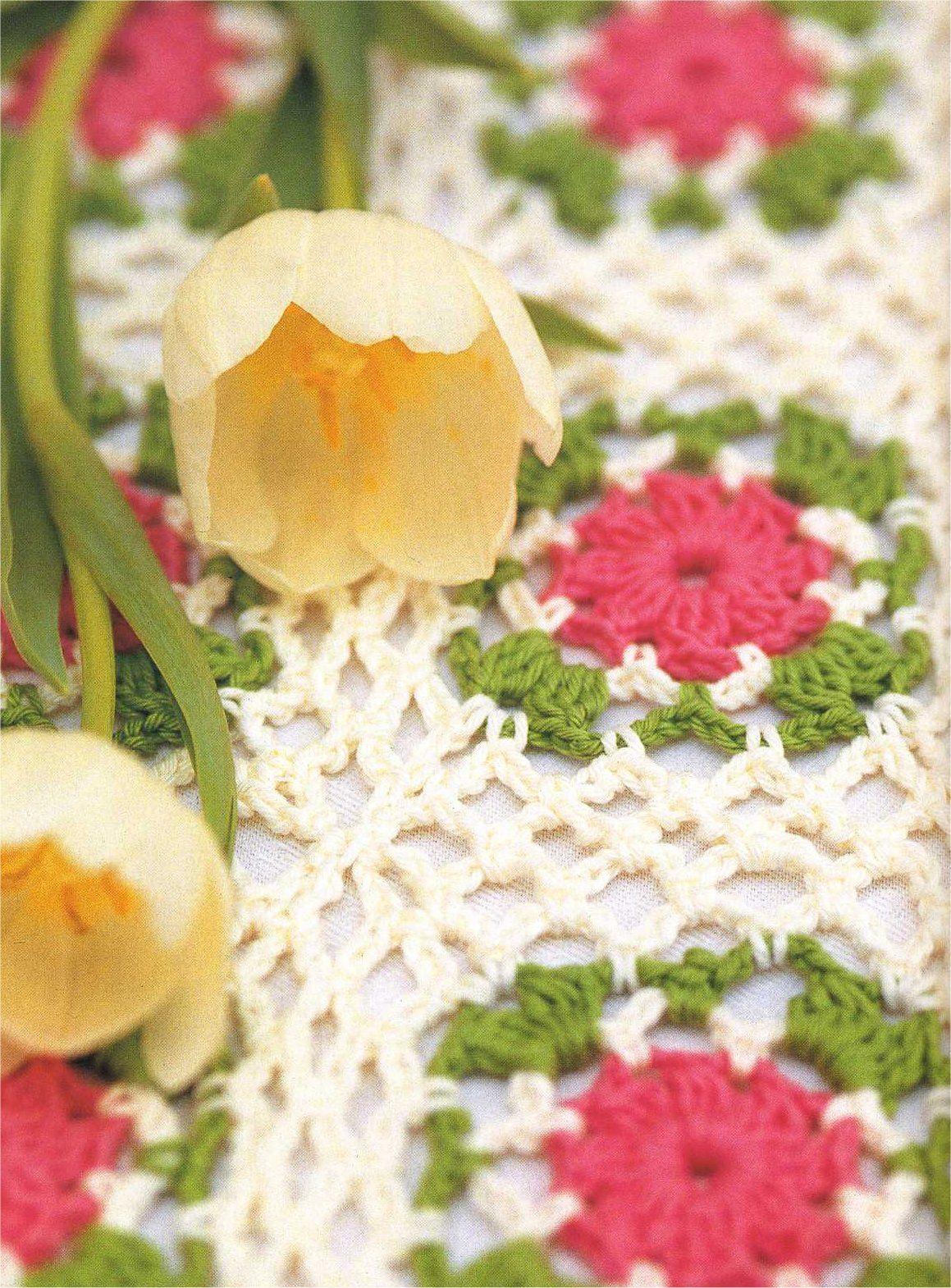 Crochet afghan Beautiful! It looks like a garden ! | sobrecamas ...