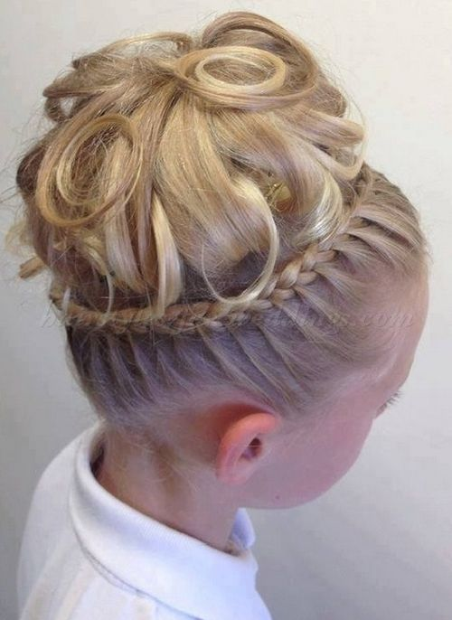hairstyles for flower girls flower girl updo wedding