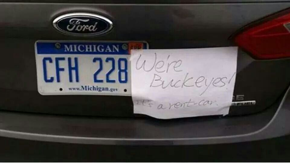 How Not To Get Your Car Vandalized On Campus On Rivalry Day Lol