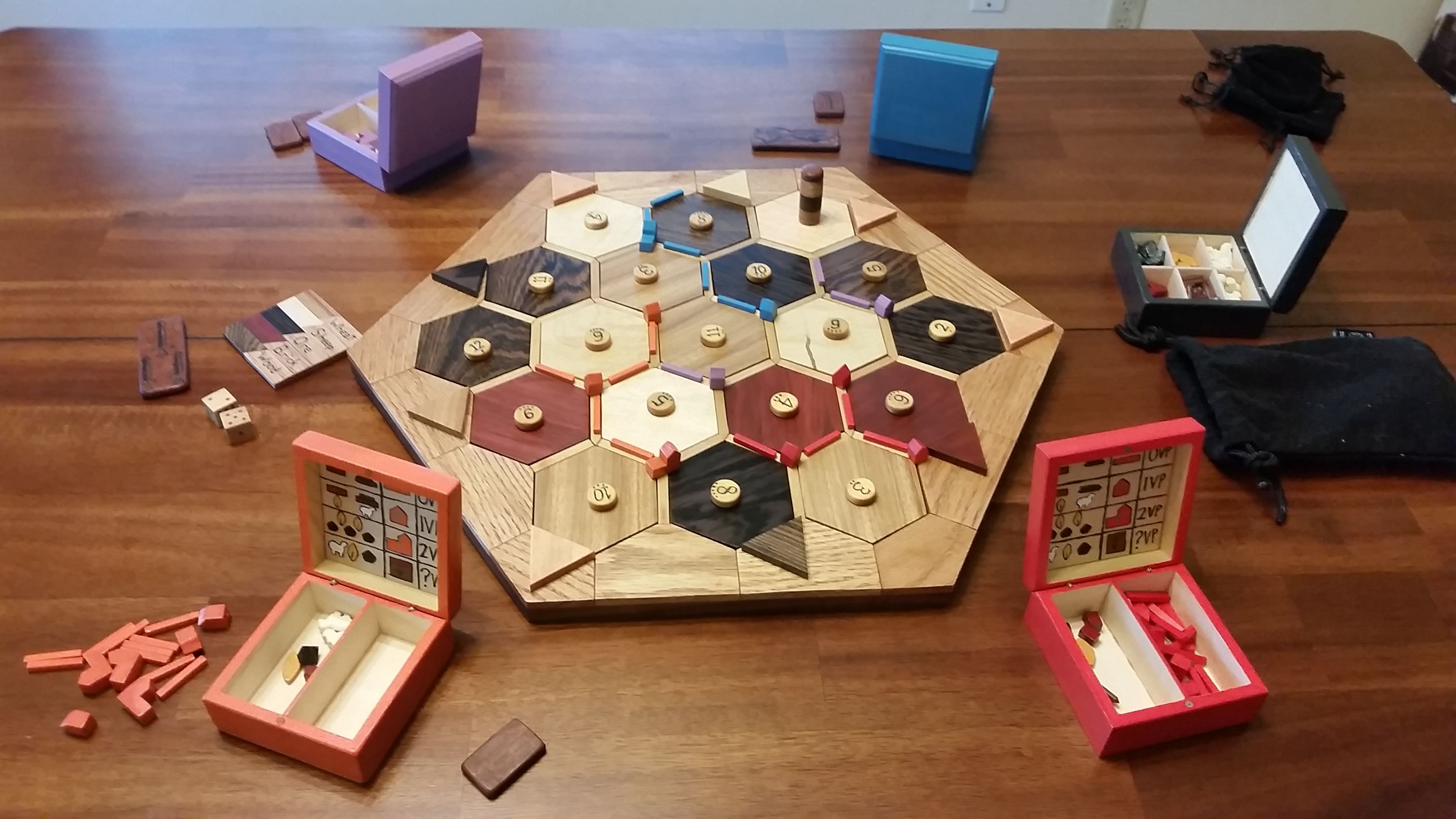 Completely Wooden Settlers Of Catan Board Build Games Catan