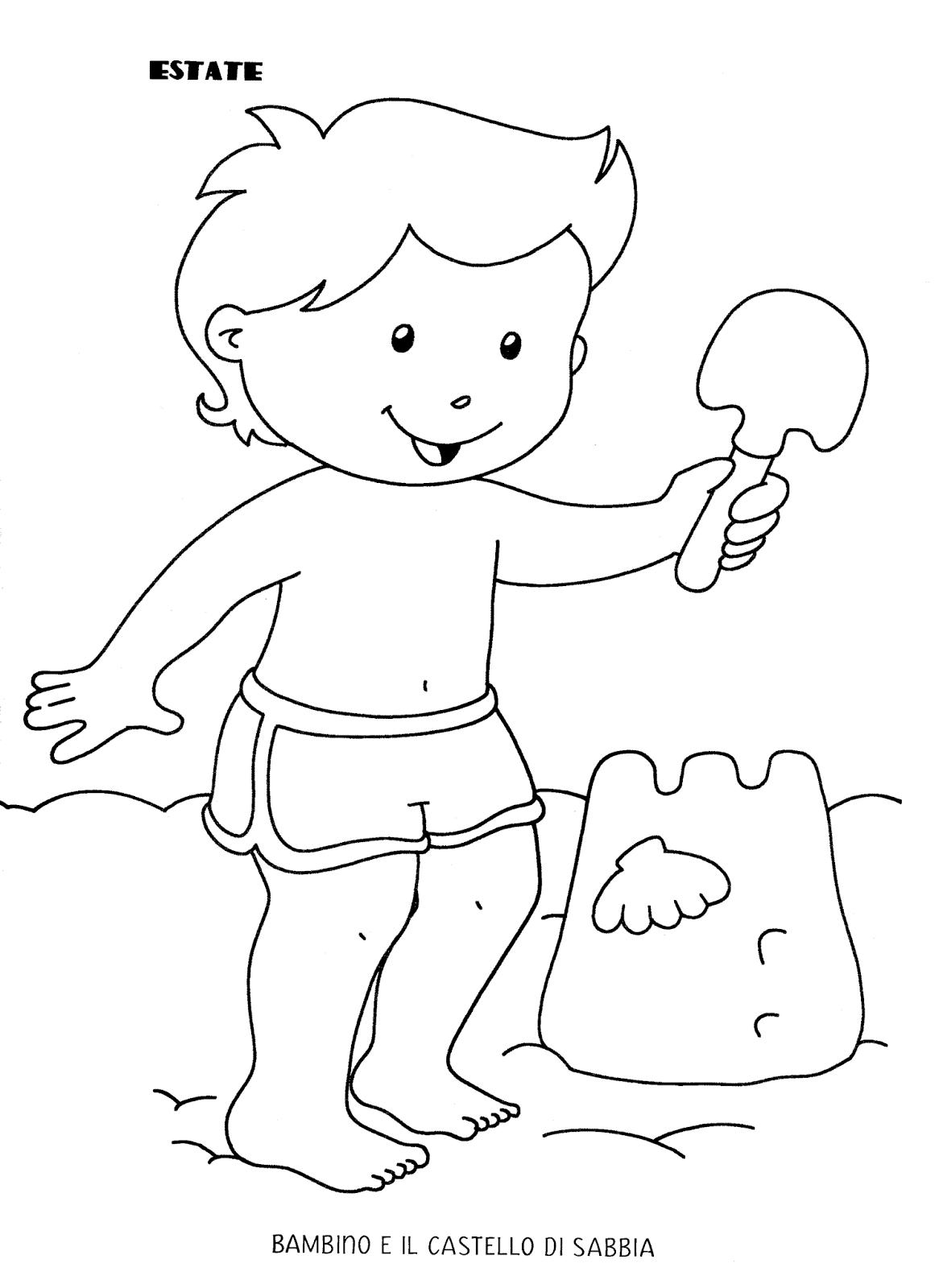 Blog scuola schede didattiche scuola dell 39 infanzia la for Disegni da colorare estate