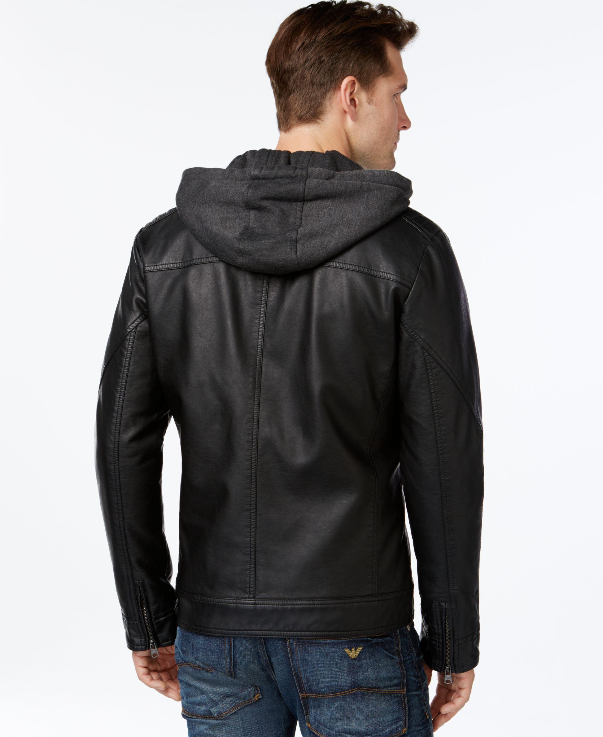 Buffalo David Bitton Big Tall Bibbed Faux Leather Jacket Coats Jackets Men Macy S Leather Jacket Leather Jackets Online Faux Leather Jackets [ 2378 x 1947 Pixel ]