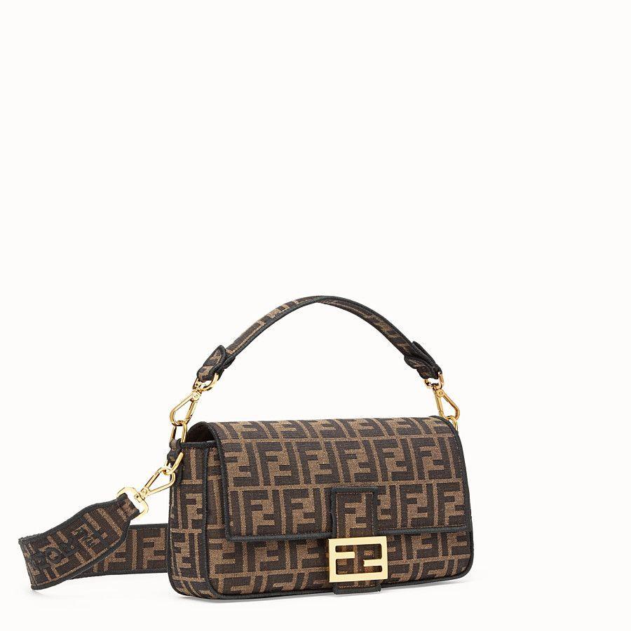 Brown fabric bag  BAGUETTE  Fendi  Fendi Online Storebag