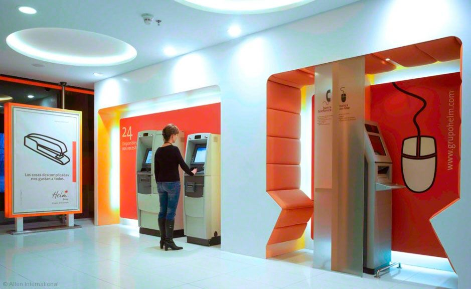Helm Bank Atms Bank Design Bank Interior Design Concept Design
