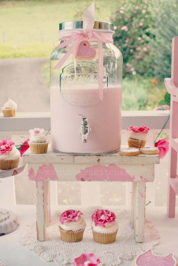 Pink milk and cookies party #pink #pinkparty