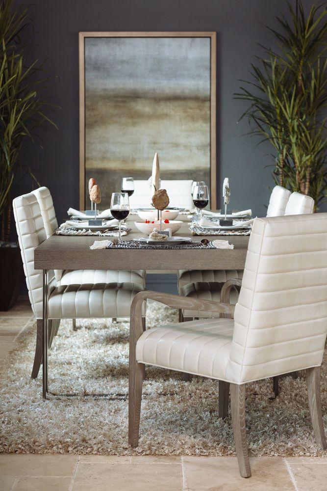 Bernhardt Mosaic Dark Taupe Dining Table Dining Table Dining Table