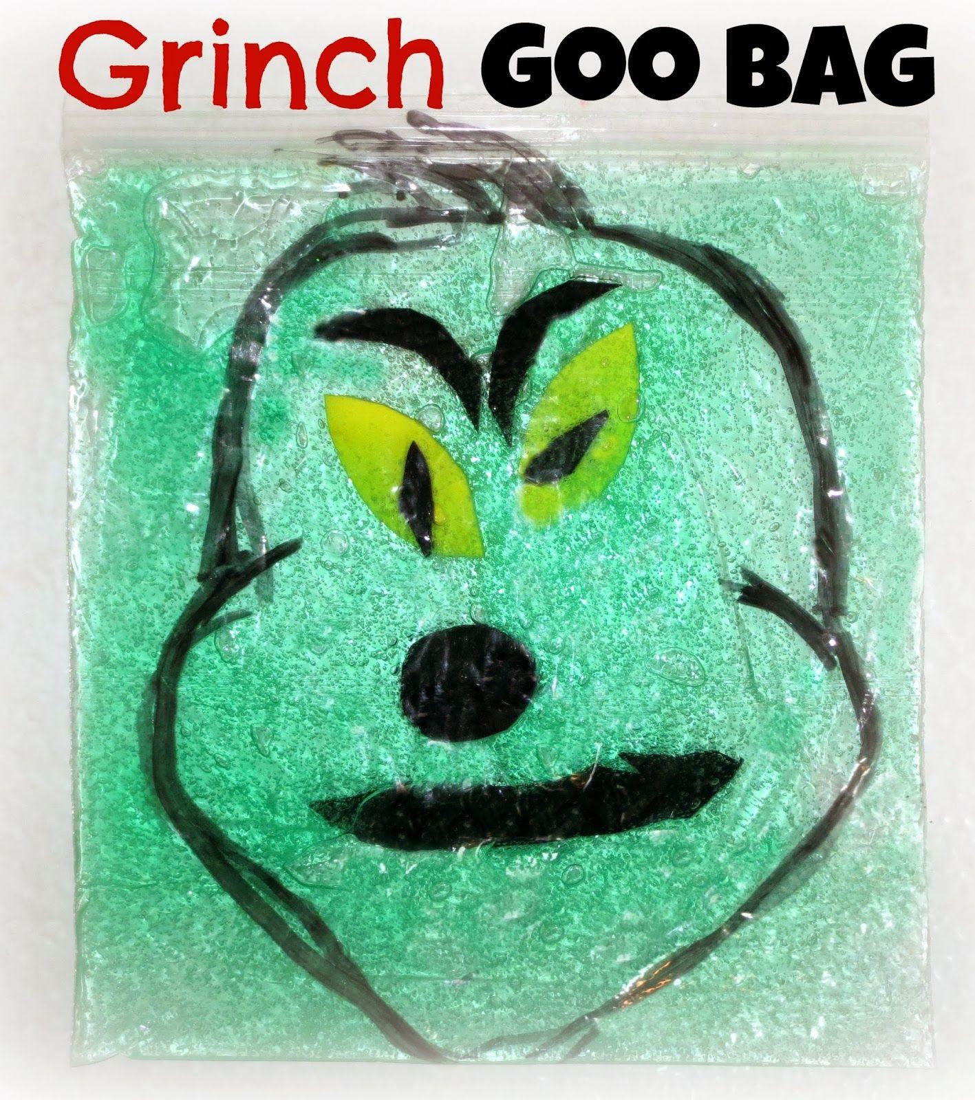 Grinch Goo Bag | Grinch, Sensory play and Bag