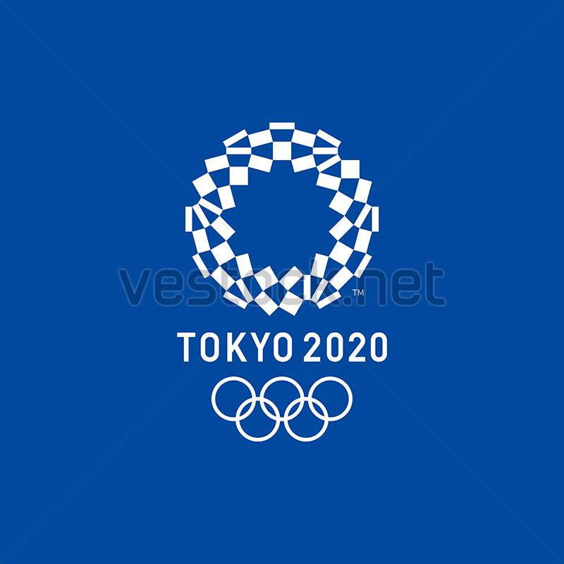 Tokyo 2020 Olympics Logo Vector Free Download with Blue