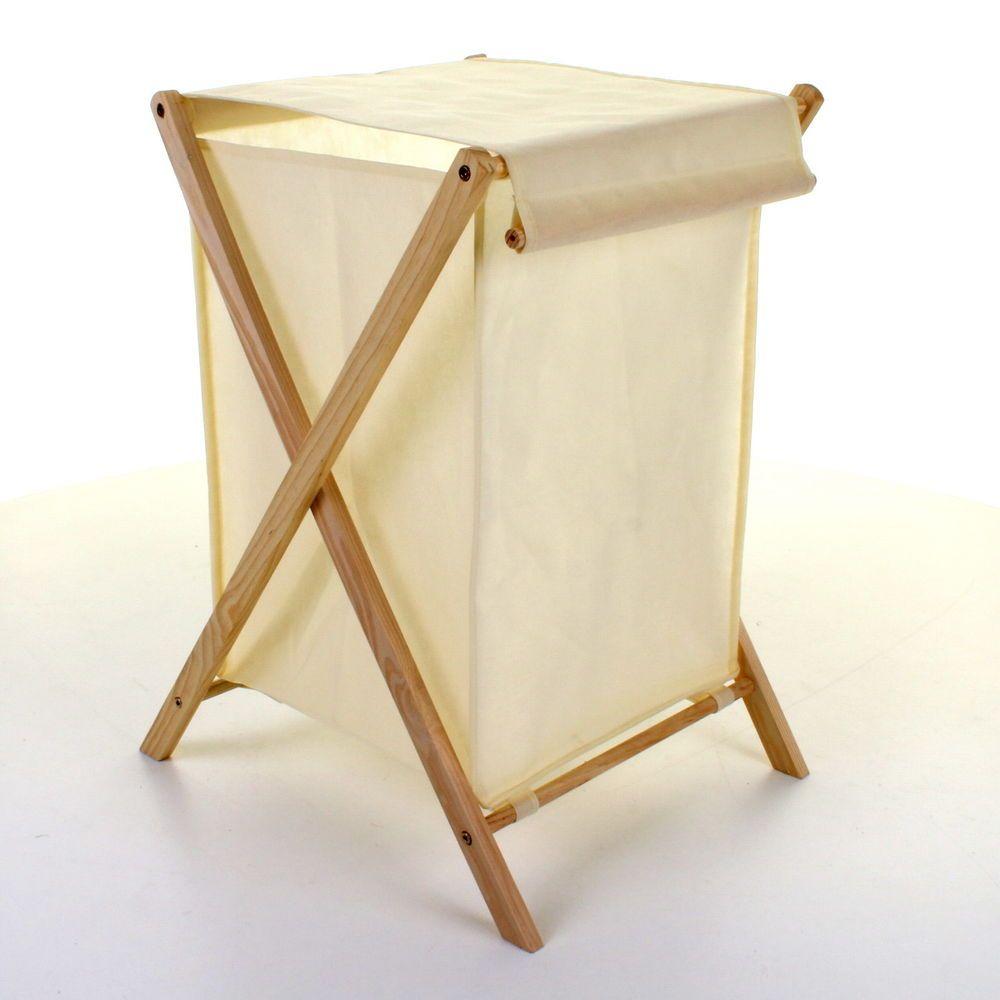Laundry Basket Folding Wooden Frame Canvas Bag Washing Wooden Laundry Basket Laundry Basket Folding Laundry Basket